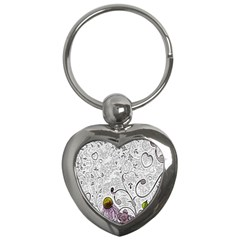 Abstract Pattern Key Chains (Heart)