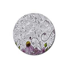 Abstract Pattern Rubber Coaster (round)