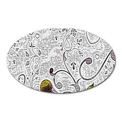 Abstract Pattern Oval Magnet