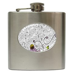 Abstract Pattern Hip Flask (6 oz)