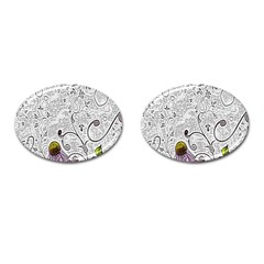 Abstract Pattern Cufflinks (oval)