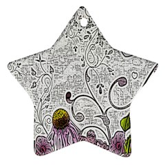 Abstract Pattern Star Ornament (Two Sides)