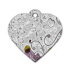 Abstract Pattern Dog Tag Heart (Two Sides)