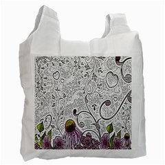 Abstract Pattern Recycle Bag (One Side)