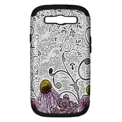 Abstract Pattern Samsung Galaxy S III Hardshell Case (PC+Silicone)
