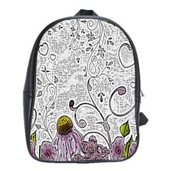Abstract Pattern School Bags (XL)