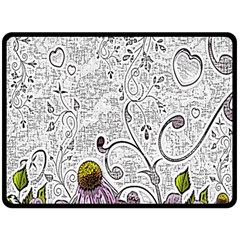 Abstract Pattern Double Sided Fleece Blanket (Large)