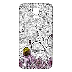 Abstract Pattern Samsung Galaxy S5 Back Case (white)