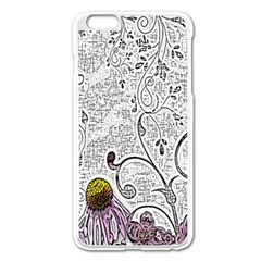 Abstract Pattern Apple iPhone 6 Plus/6S Plus Enamel White Case