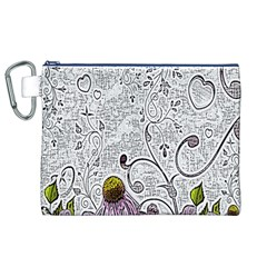 Abstract Pattern Canvas Cosmetic Bag (xl)