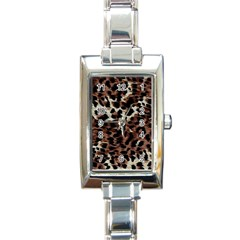 Background Fabric Animal Motifs Rectangle Italian Charm Watch