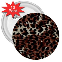 Background Fabric Animal Motifs 3  Buttons (10 pack)