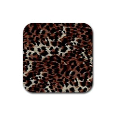 Background Fabric Animal Motifs Rubber Coaster (square)