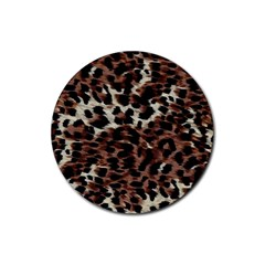 Background Fabric Animal Motifs Rubber Round Coaster (4 Pack)