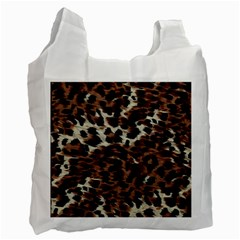 Background Fabric Animal Motifs Recycle Bag (Two Side)