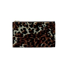 Background Fabric Animal Motifs Cosmetic Bag (small)