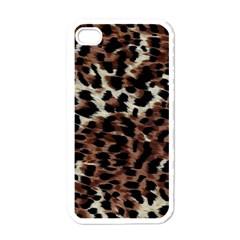 Background Fabric Animal Motifs Apple iPhone 4 Case (White)