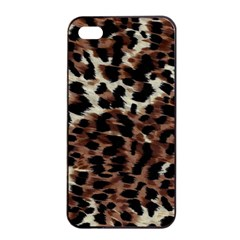 Background Fabric Animal Motifs Apple iPhone 4/4s Seamless Case (Black)