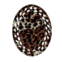 Background Fabric Animal Motifs Oval Filigree Ornament (Two Sides)
