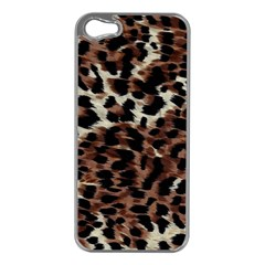 Background Fabric Animal Motifs Apple iPhone 5 Case (Silver)