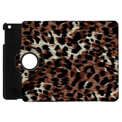 Background Fabric Animal Motifs Apple iPad Mini Flip 360 Case