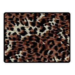 Background Fabric Animal Motifs Double Sided Fleece Blanket (Small)