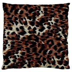 Background Fabric Animal Motifs Large Flano Cushion Case (One Side)
