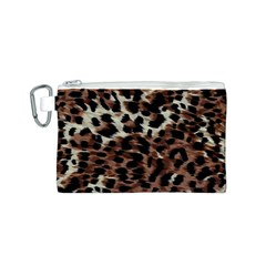 Background Fabric Animal Motifs Canvas Cosmetic Bag (S)