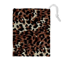 Background Fabric Animal Motifs Drawstring Pouches (Extra Large)