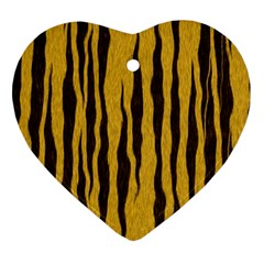 Seamless Fur Pattern Heart Ornament (two Sides)