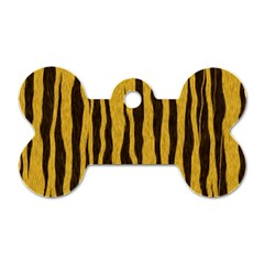 Seamless Fur Pattern Dog Tag Bone (One Side)