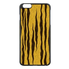 Seamless Fur Pattern Apple iPhone 6 Plus/6S Plus Black Enamel Case