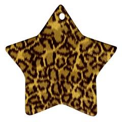 Seamless Animal Fur Pattern Ornament (Star)