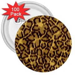 Seamless Animal Fur Pattern 3  Buttons (100 pack)