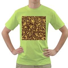 Seamless Animal Fur Pattern Green T-Shirt
