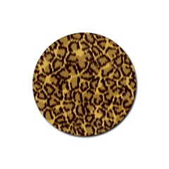 Seamless Animal Fur Pattern Rubber Round Coaster (4 pack)