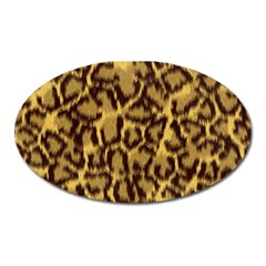 Seamless Animal Fur Pattern Oval Magnet