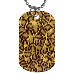 Seamless Animal Fur Pattern Dog Tag (Two Sides)
