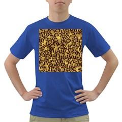 Seamless Animal Fur Pattern Dark T-Shirt