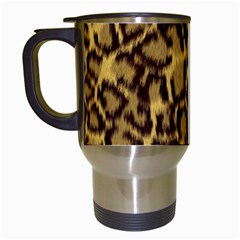 Seamless Animal Fur Pattern Travel Mugs (White)