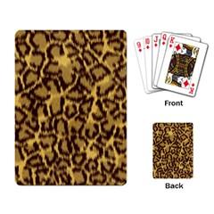 Seamless Animal Fur Pattern Playing Card