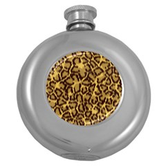 Seamless Animal Fur Pattern Round Hip Flask (5 oz)