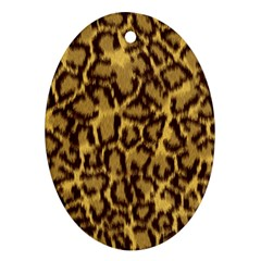 Seamless Animal Fur Pattern Oval Ornament (Two Sides)