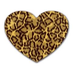 Seamless Animal Fur Pattern Heart Mousepads