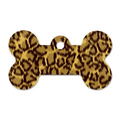 Seamless Animal Fur Pattern Dog Tag Bone (two Sides)