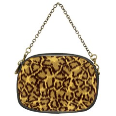 Seamless Animal Fur Pattern Chain Purses (two Sides)