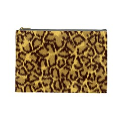 Seamless Animal Fur Pattern Cosmetic Bag (large)