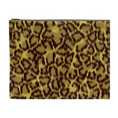 Seamless Animal Fur Pattern Cosmetic Bag (xl)