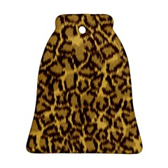 Seamless Animal Fur Pattern Bell Ornament (Two Sides)