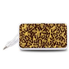 Seamless Animal Fur Pattern Portable Speaker (White)